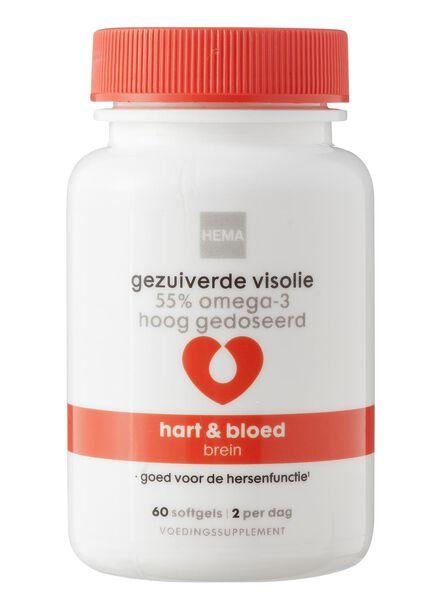 gezuiverde visolie  55% omega-3 hoog gedoseerd - 11401540 - HEMA