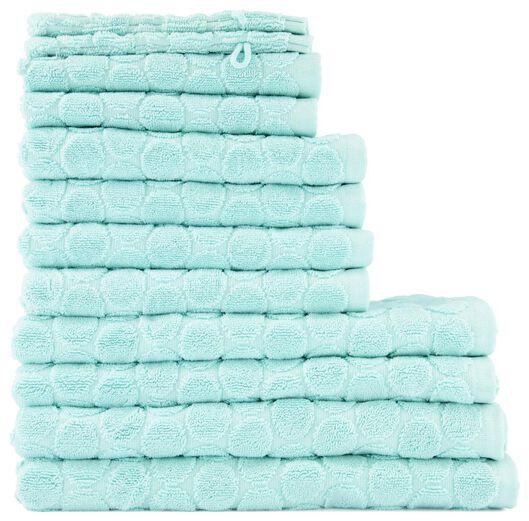 washand - zware kwaliteit - lichtgroen stip mintgroen washandje - 5200065 - HEMA