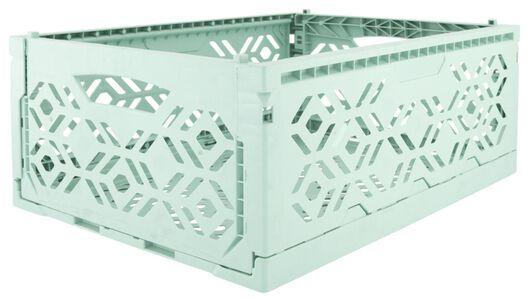 klapkrat recycled 30x40x15 - mintgroen - 39821053 - HEMA