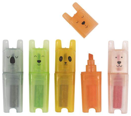 mini markers panda 5 stuks - 14410021 - HEMA