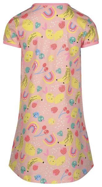 kindernachthemd met poppennachthemd lichtroze lichtroze - 1000022760 - HEMA