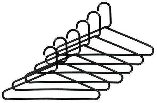 kledinghangers kunststof zwart - 6 stuks - 39811020 - HEMA
