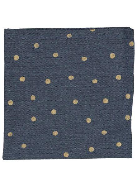 servetten 47x47 chambray 2 stuks blauw/goud - 5300058 - HEMA