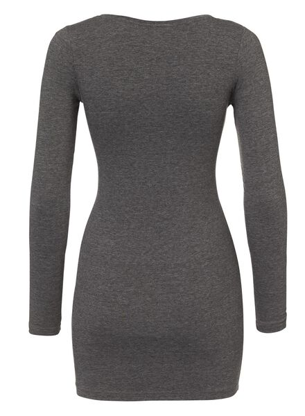 dames t-shirt donkergrijs - 1000005134 - HEMA
