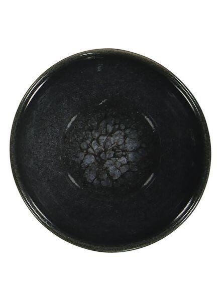 schaal - 10 cm - Porto - reactief glazuur - zwart - 9602035 - HEMA