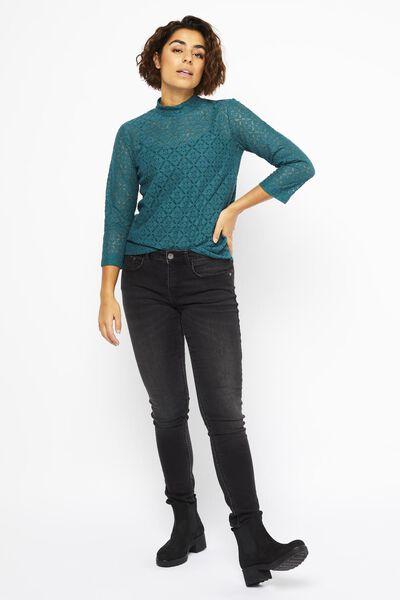 dames top kant groen groen - 1000021979 - HEMA