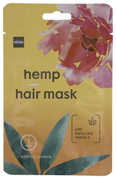 haarmasker hennepolie & vitamine E 25ml - 11000052 - HEMA