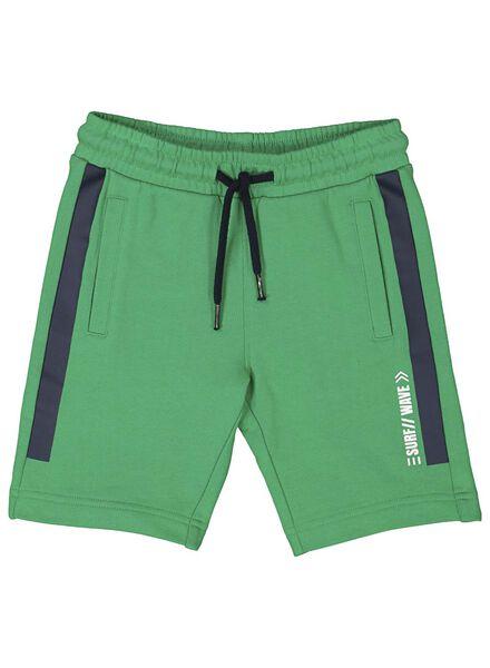 kinder sweatshort groen groen - 1000013328 - HEMA