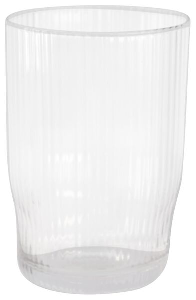 longdrinkglas Bergen streep reliëf 450ml - 9401053 - HEMA