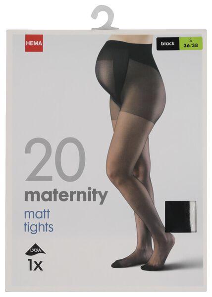 zwangerschapspanty 20 denier zwart 40/42 - 4042417 - HEMA