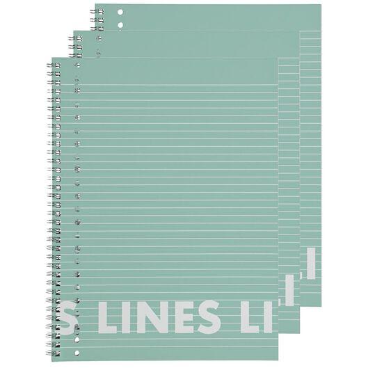 collegeblok roze A4 gelinieerd - 3 stuks - 14101642 - HEMA