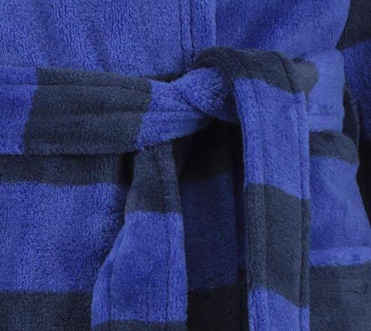 kinderbadjas streep blauw blauw - 1000020712 - HEMA