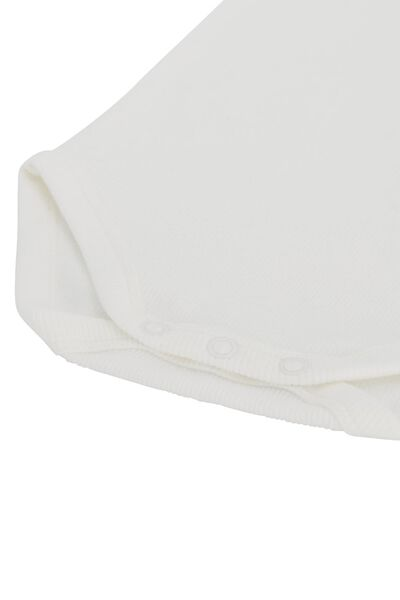 rompers organic katoen stretch rib - 3 stuks grijsmelange grijsmelange - 1000022890 - HEMA