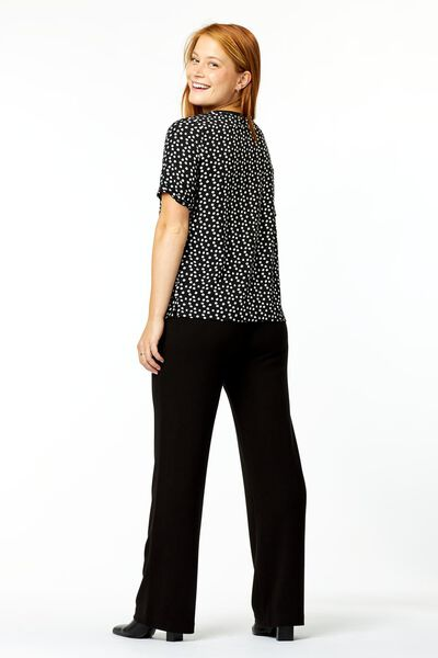 dames top stippen zwart XL - 36330774 - HEMA