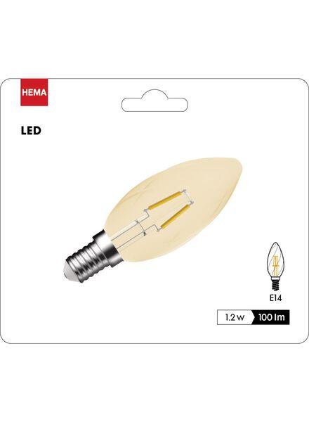 LED kaarslamp goudhelder 1,2 watt - kleine fitting - 100 lumen - 20090052 - HEMA