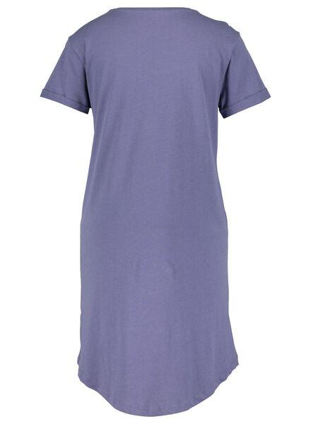 dames nachthemd blauw blauw - 1000015502 - HEMA