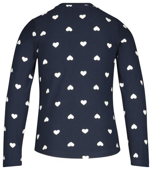 kinderpyjama micro hartjes blauw - 1000020679 - HEMA