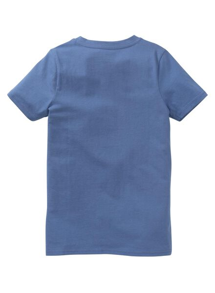 kinder t-shirt blauw blauw - 1000012845 - HEMA