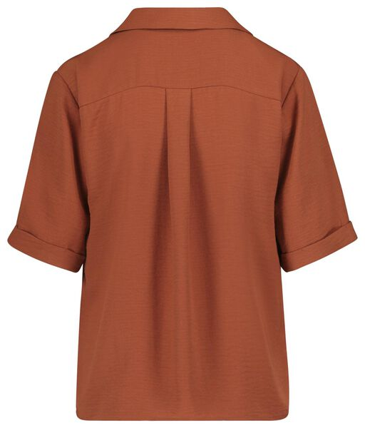 damesblouse bruin XL - 36240838 - HEMA