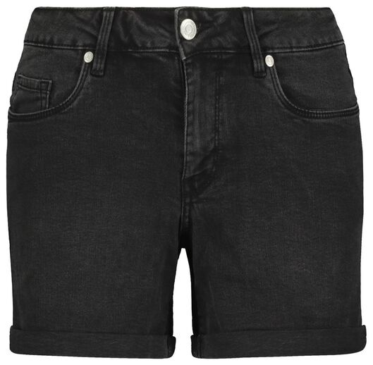 damesshort denim zwart 40 - 36291373 - HEMA
