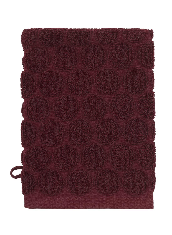 Image of Washand - Zware Kwaliteit - Bordeaux Stip (donkerrood)