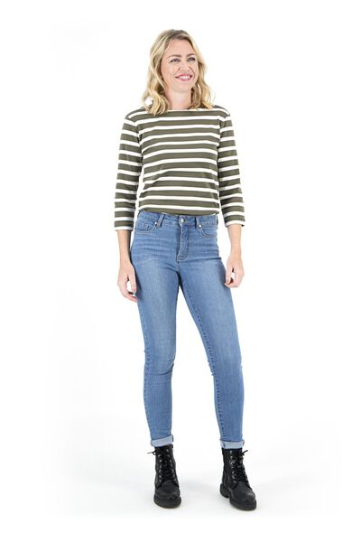 dames jeans - shaping skinny fit lichtblauw 42 - 36337543 - HEMA