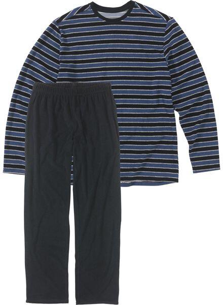 herenpyjama blauw blauw - 1000008718 - HEMA
