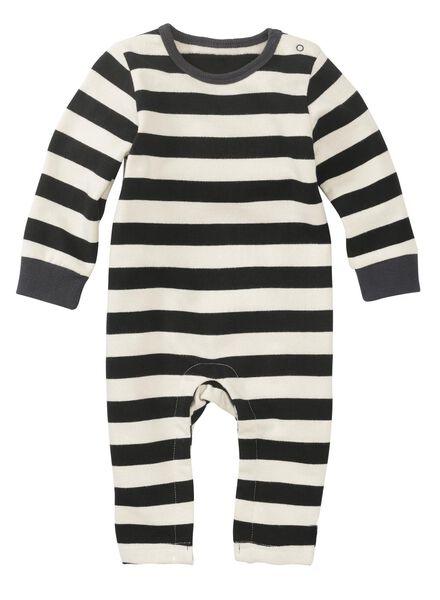 newborn baby jumpsuit zwart/wit - 1000011143 - HEMA