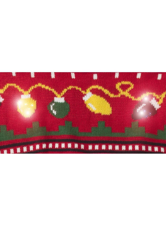 heren kersttrui met lampjes rood HEMA