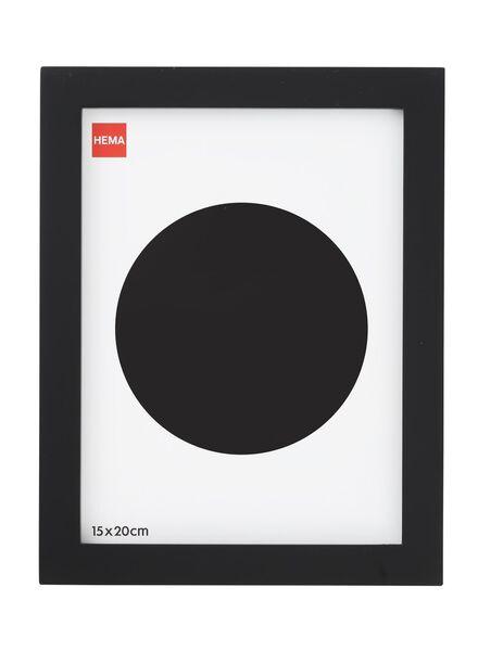 fotolijst 15x20 - hout zwart 15 x 20 zwart - 13680020 - HEMA