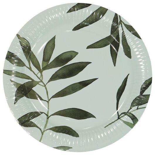 papieren borden - Ø22.5 cm - plant - 8 stuks - 14200361 - HEMA