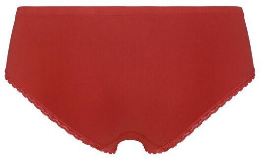 dameshipster naadloos kant rood XL - 19680005 - HEMA
