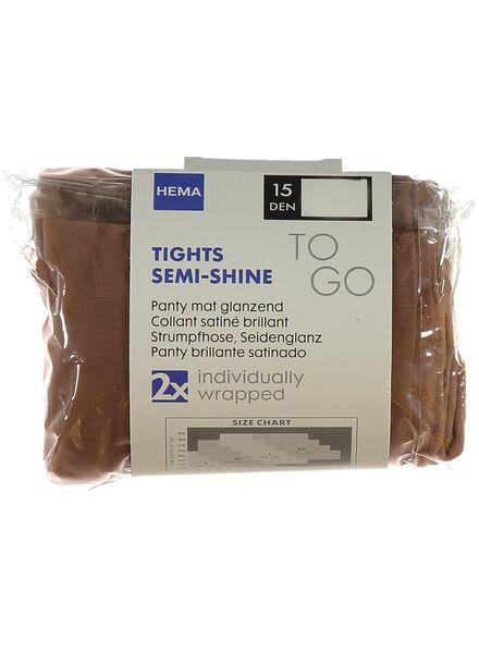2-pak mat glanzend panty's 15 denier naturel naturel - 1000000756 - HEMA
