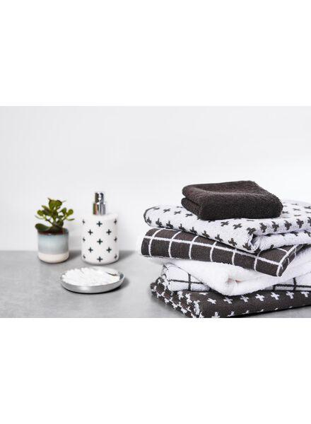 handdoek - 50 x 100 - zware kwaliteit - wit ruit - 5210038 - HEMA