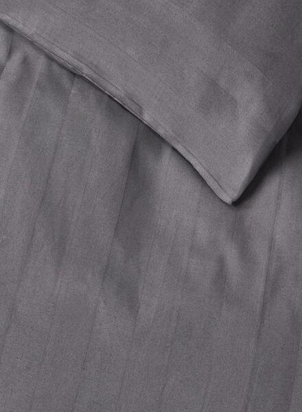 dekbedovertrek - hotel katoen satijn - 140 x 200 cm - grijs - 5700122 - HEMA