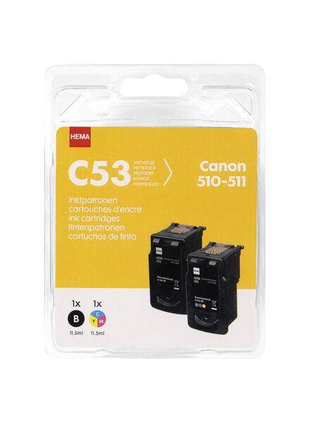 HEMA C53 2-pak vervangt Canon 510-511 - 38399227 - HEMA