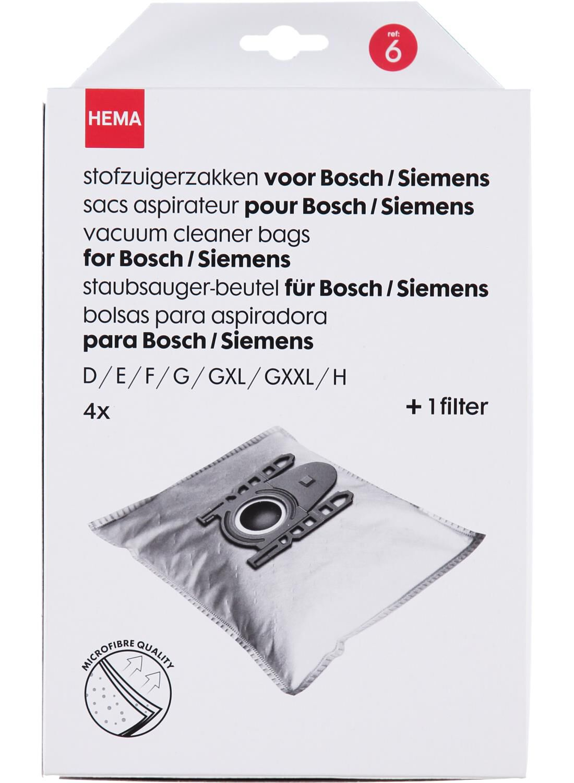 4-pak Stofzuigerzakken Bosch/Siemens (wit)