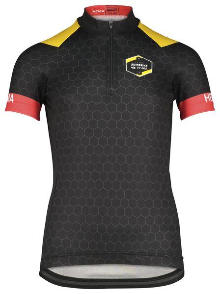 kinder fietsshirt TJV replica zwart zwart - 1000021248 - HEMA