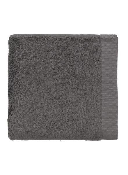 handdoek - 50 x 100 cm - hotel extra zacht - donkergrijs uni - 5220031 - HEMA