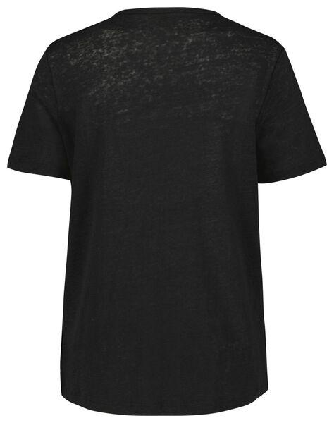 dames t-shirt linnen - 36282378 - HEMA