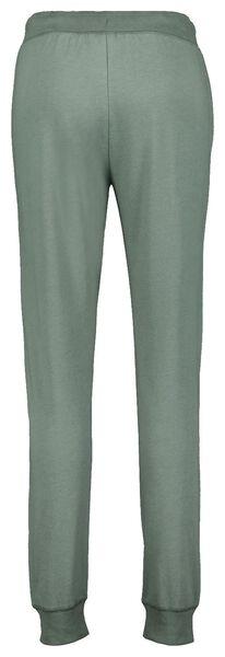 dames pyjamabroek katoen sweat groen groen - 1000025248 - HEMA