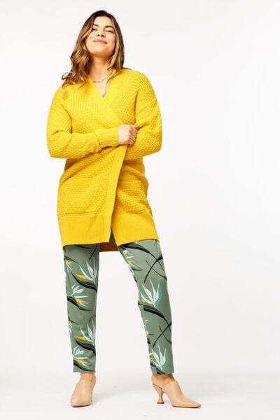damesvest gebreid geel geel - 1000024066 - HEMA