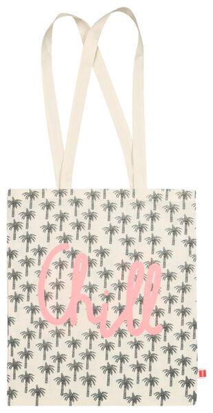 shopper - oprolbaar - canvas - 41x36 - 14502101 - HEMA
