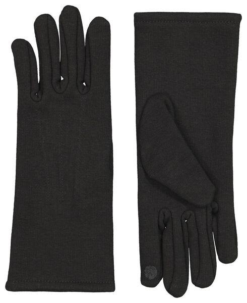 handschoenen touchscreen zwart zwart - 1000009703 - HEMA