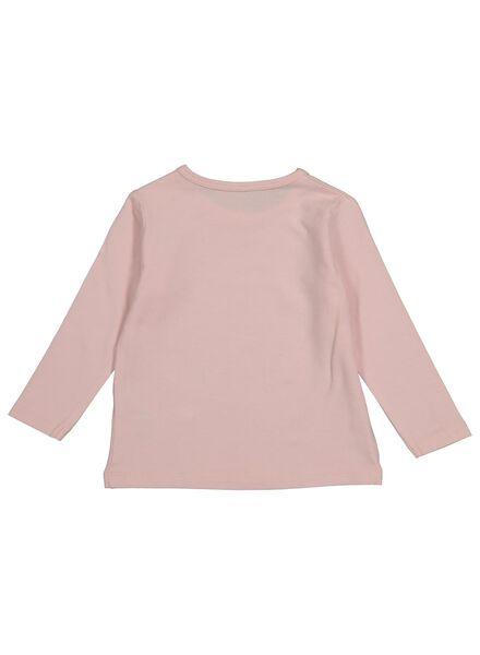 baby t-shirt met bamboe lichtroze 74 - 33096103 - HEMA