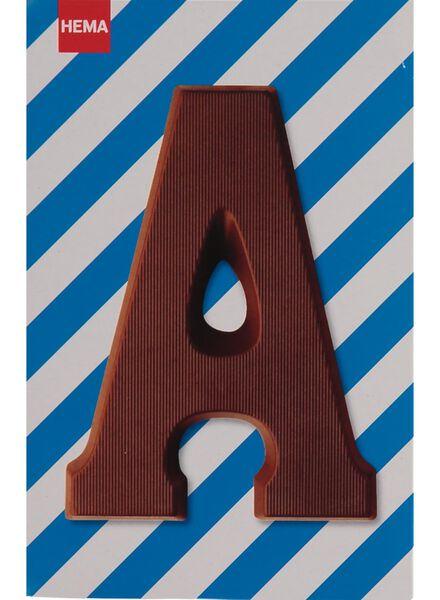 melkchocolade letter A - 10033000 - HEMA
