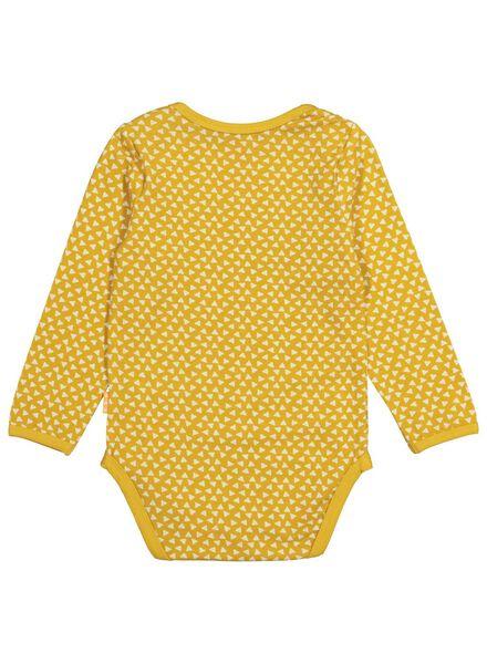 romper met bamboe stretch geel geel - 1000015079 - HEMA