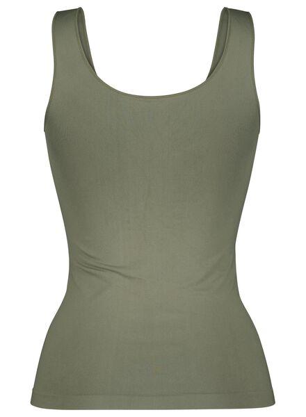 dameshemd naadloos micro groen groen - 1000015694 - HEMA