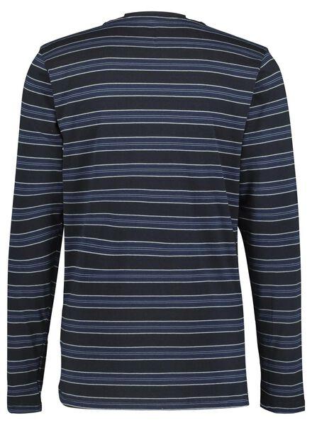 herenpyjama donkerblauw donkerblauw - 1000015704 - HEMA