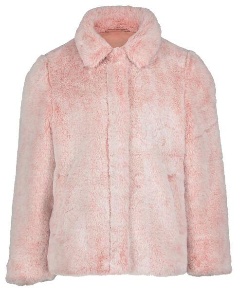kinderjas imitatiebont dipdye roze roze - 1000020132 - HEMA